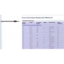 Спинална игла Pencil Point и игла водач, 115мм
